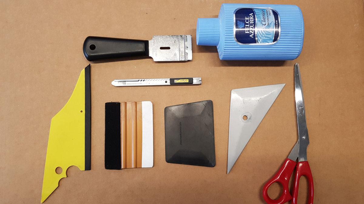 Scheibentönung Werkzeug